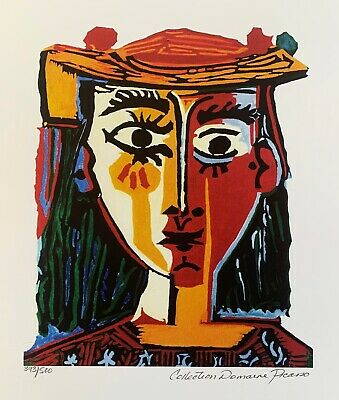 Pablo Picasso BUST OF A WOMAN Estate Signed & Numbered Small Giclee