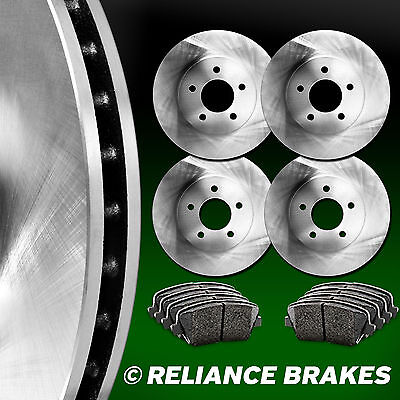 [FRONT+REAR KIT] Reliance *OE REPLACEMENT* Brake Rotors *Plus Ceramic Pads C1963