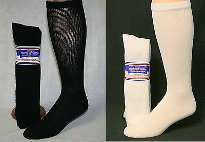 12 Pair Men's Diabetic Cushioned Over The Calf Socks Sizes 9-11, 10-13, 13-15
