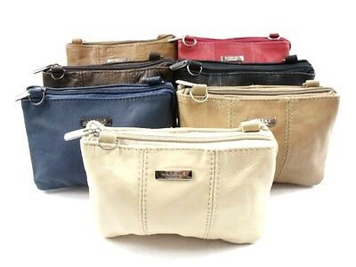 Ladies Girls Soft Real Leather Small Size Cross Over Body Shoulder Bag Purse