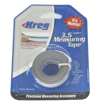 Kreg KMS7728 3.5 Meter Self-Adhesive Measuring Tape, Right-to-Left