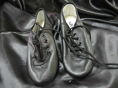 Children's Jazz Dance Shoes New, High Quality Tan or Black Leather, Full Sole