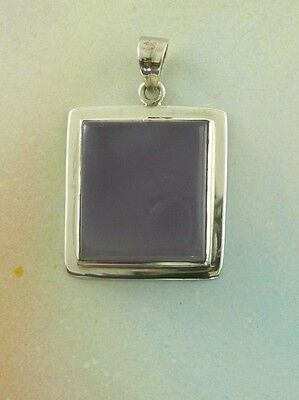 Sterling Silver 925 Chalcedony Pendant P6