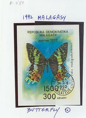 0-884   MALAGASY 192 Butterflies  MS  FD  Cancell.