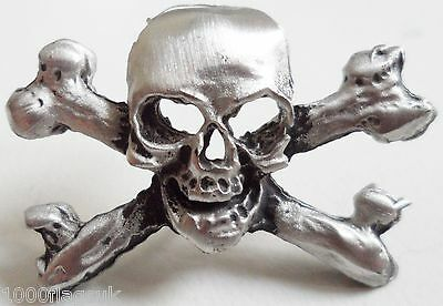Skull and Crossbone Pirate Pin Badge - Hand Made in English Pewter