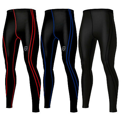 Mens Compression Running  Base Layer Tights Long Pant
