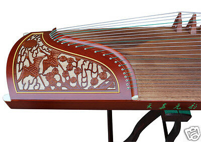 Professional Standard Size Carved Rosewood Guzheng Instrument Chinese Zither