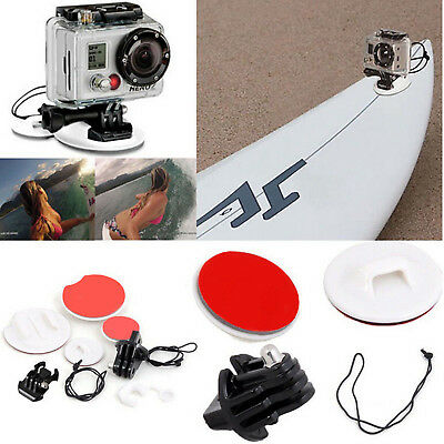 Surfboard Surfing Mounts Kits Tripod Adapter 3M Adhesive f GoPro Hero 5 4S 4 3+3