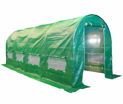 Fully Galvanised Frame Polytunnel Greenhouse Pollytunnel Poly Tunnel 5m x 2m