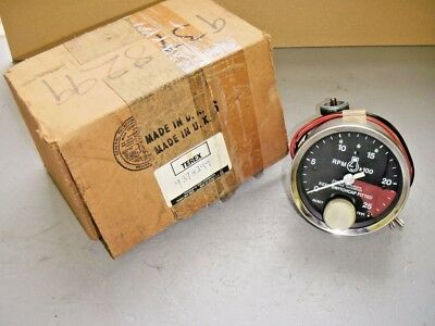 Icknield Tell Tale Mechanical Drive Tachometer Diesel 0 - 2500 RPM Terex 9378299