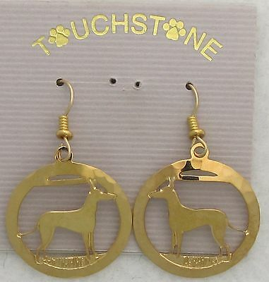Manchester Terrier Jewelry Gold Earrings by Touchstone