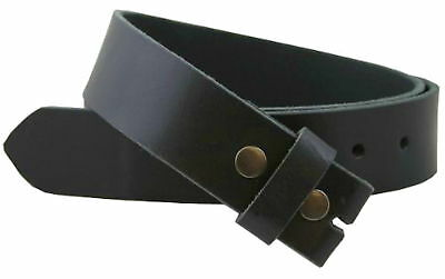 Belt Strap Snap on Leather Belt New NO BUCKLE Black Brown Mens Womens