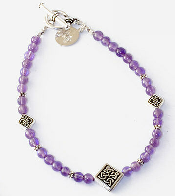 Amethyst Celtic Bracelet, Made In Ireland, Sue Bowden, All That Glisters