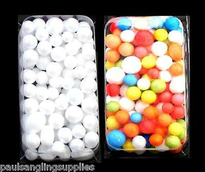 Mixed Size / Colour Polystyrene Fishing Foam Balls for Pop up Baits Rigs
