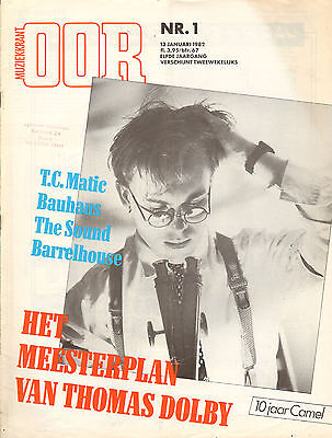 MAGAZINE OOR 1982 nr. 01 - THE SOUND / THOMAS DOLBY / BAUHAUS /CAMEL /T.C. MATIC