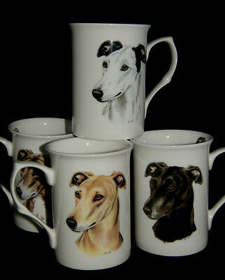 BN Greyhound Bone China Mug, Four Greyhounds Available, Greyhound Gift, Dog Mug
