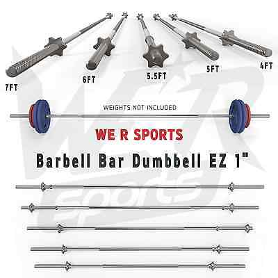 "Barbell Bar Dumbbell Weight Lifting Triceps Curl Home Fitness EZ 1"" Barbell Bars"