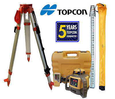 Topcon RL-H5A DB Laser Level Package PLUS 13 FT Inches Rod & Tripod