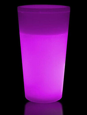 GLOW CUPS 24pk ULTRA PINK Glow in the Dark HIGHBALL GLASSES 355ML Clearance Sale