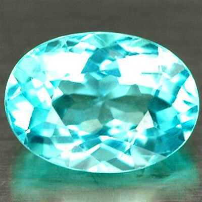 0.91 CT ~ Apatite ~ Paraiba colored ~  Oval ~ Natural Gemstone
