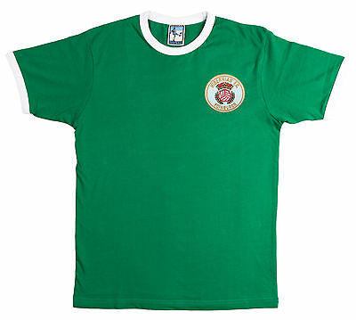 Retro Hibernian 1980s Football T Shirt New  Sizes S-XXL Embroidered Logo