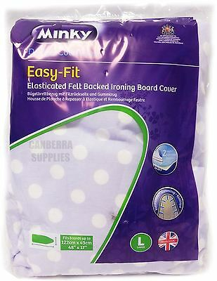 Minky Easy Fit Elasticated Ironing Board Cover Assorted Designs 122 X 43Cm
