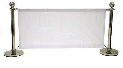 1.6 meter white banners for our cafe barrier systems, shop banners, cafe banners