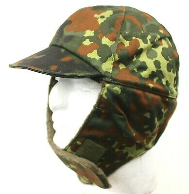 Genuine German Army Cold Weather Field Hat Flecktarn Camo Unissued Large Sizes