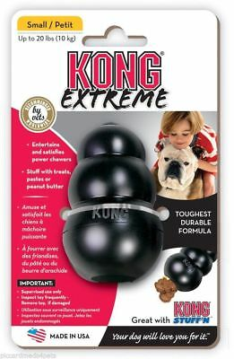 KONG Extreme Black Small Rubber Dog Chew Toy Tough insert treats power chewers