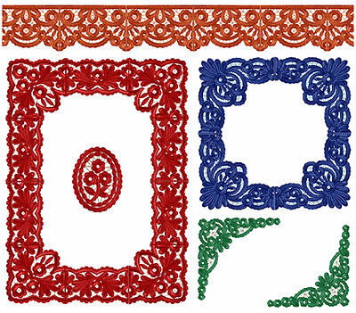 """ABC Designs Dantela Lace for Table  Machine Embroidery Designs Set 5""""x7"""" Hoop"""