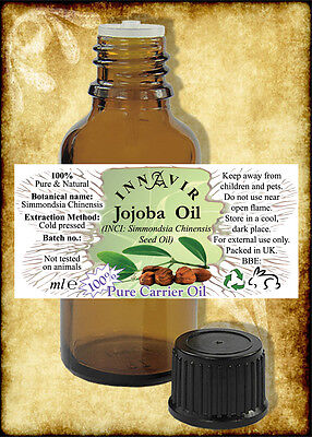100% Pure Golden/Unrefined Jojoba Oil 100ml, 50ml, 30ml, 10ml+10% FREE, 5ml