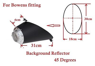 New Background Reflector Silver For Bowens S Type Clips 18/30  FREE Diffuse Gel