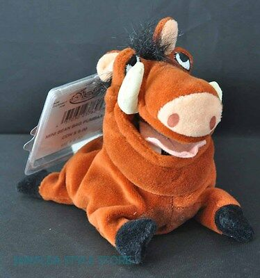 Pumbaa Lion King Disney Store Bean Bag Toy Warthog Plush with Tag