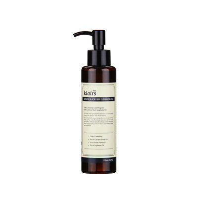 Klairs Gentle Black Deep Cleansing Oil 150ml / mild cleansing deep cleanse pores