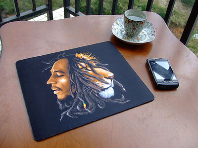 NEW RUBBER Bob Marley IMAGE MOUSE MAT MOUSEPAD MICE PAD - FREE SHIPPING TO USA