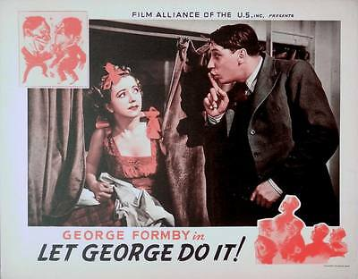 LET GEORGE DO IT 1940 George Formby EALING STUDIOS LOBBY CARD