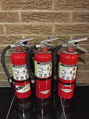 Set of 3 FIRE EXTINGUISHER 5lb 5# ABC With NEW CERT TAG (NICE)