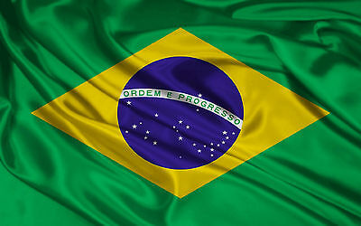 BRAZIL FLAG NEW 3X5ft BRAZILIAN FOOTBALL BANNER 90X150cm satin type material