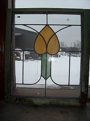 Heart stained glass in flat glass window (SG 1413)