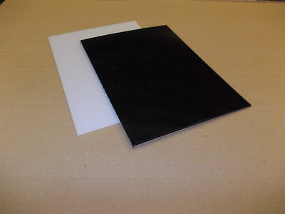 3 mm A4 HDPE Sheet (300 grade) 297 mm x 210 mm Black-Natural