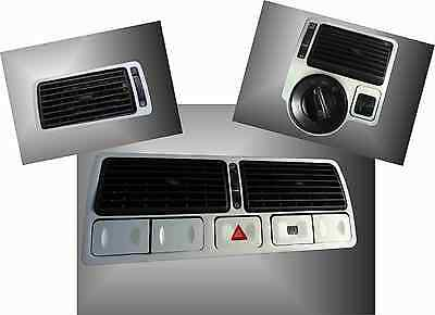 Brushed Aluminium effect Air Vent trims TDI GTI R32 to fit VW Golf Mk4 Jetta