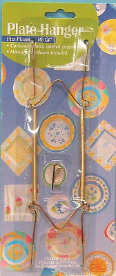"""Set of 3 Cushioned Brass Plate Hanger Fits10"""" to 14""""Plate New"""