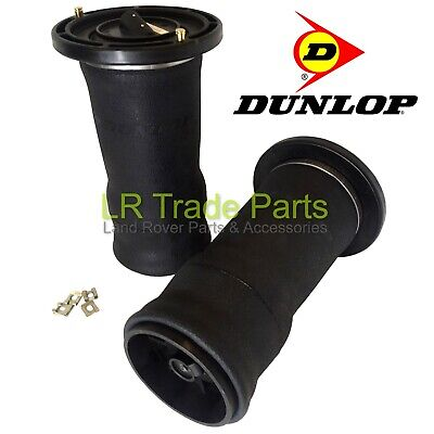 Land Rover Discovery 2 New Rear Air Suspension Spring Bags X2 Dunlop - Rkb101200
