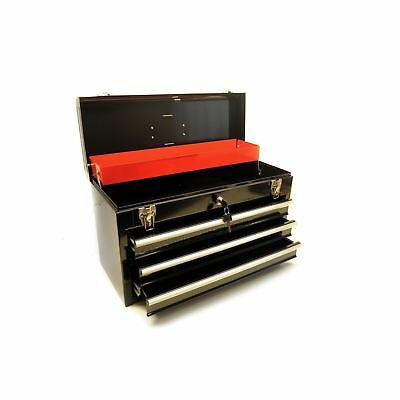 "Toolbox Rack Holdall Storage Box 3 Draws Lockable Top Box 20"" x 9"" x 12"" TE617"