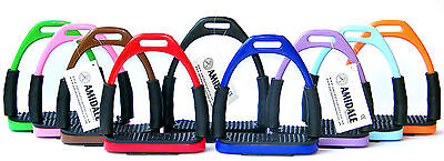 Amidlae Flexi Safety Stirrups Horse Riding Bendy Irons Stainless Steel Bnwt