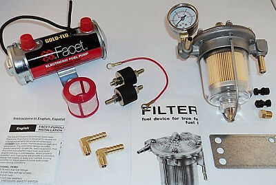 Facet Silver Top Fuel Pump and Malpassi Filter King Regulator Kit (476087E)