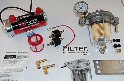 Facet Silver Top Fuel Pump & Malpassi Filter King Regulator Kit (up to 200bhp)