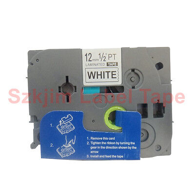 TZ-231 Black on White Label Tape 12mm 8m Compatible to Brother P-touch TZe-231