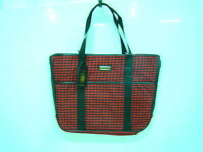 Sherpa sac voyage chien houndstooth neuf taille standard  noir/rouge