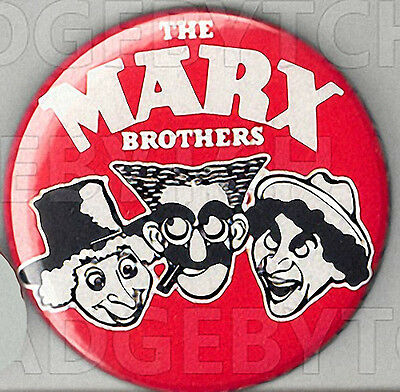 The Marx Brothers Pin Button Badge - COOL!  25mm and 56mm size!